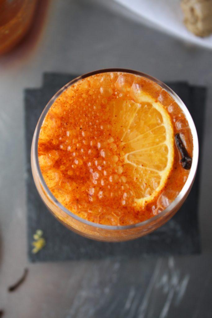 Amber Lemonade for Beering Detox