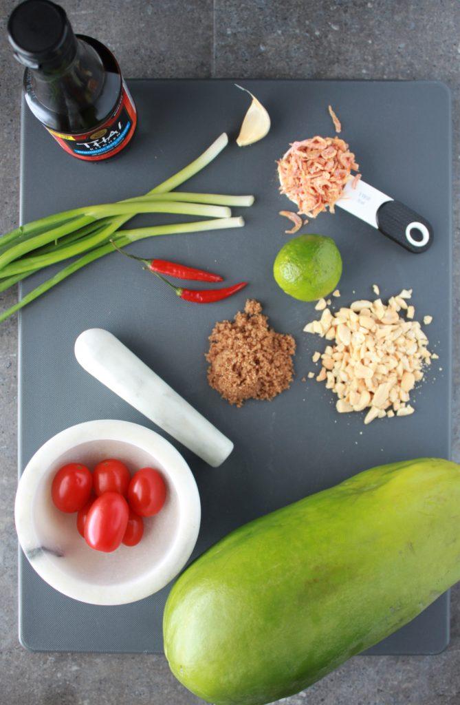 Green Papaya Salad Ingredients