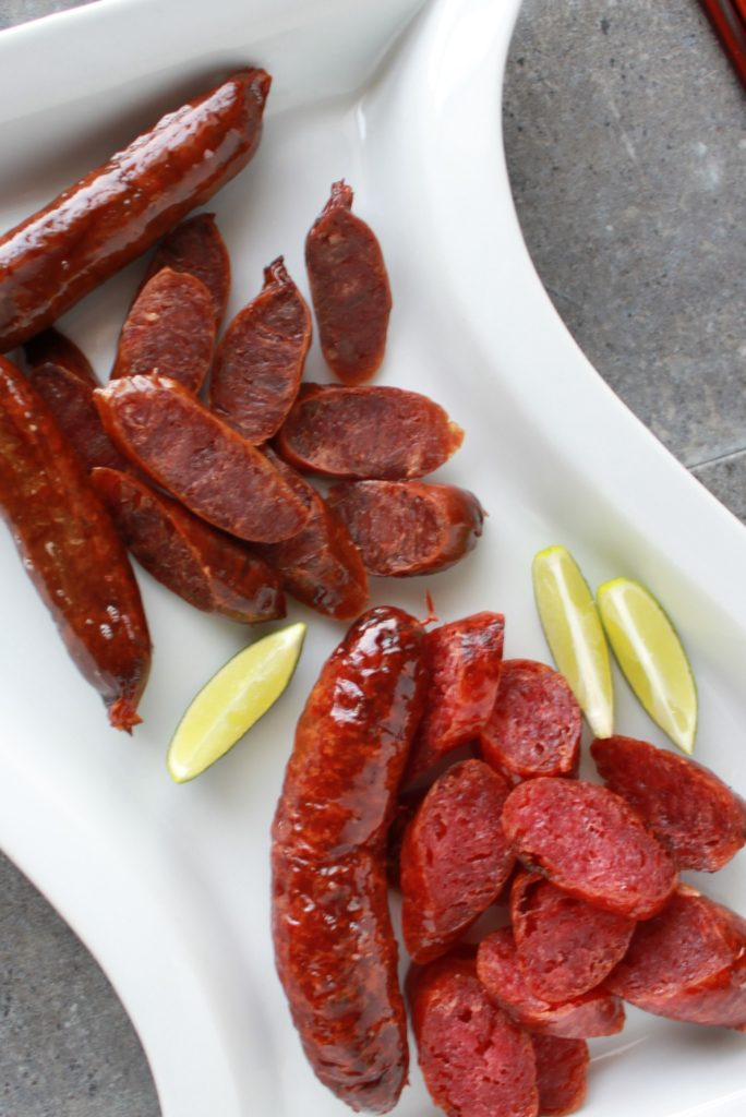 cooked Chinese sausage