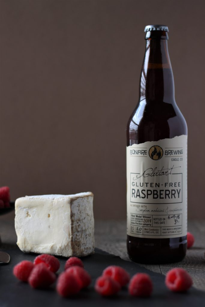 Gluten free ale Glutart with Triple Cream Brie