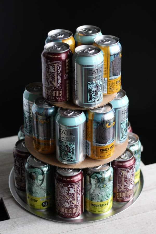 Craft Beer Cake third layer