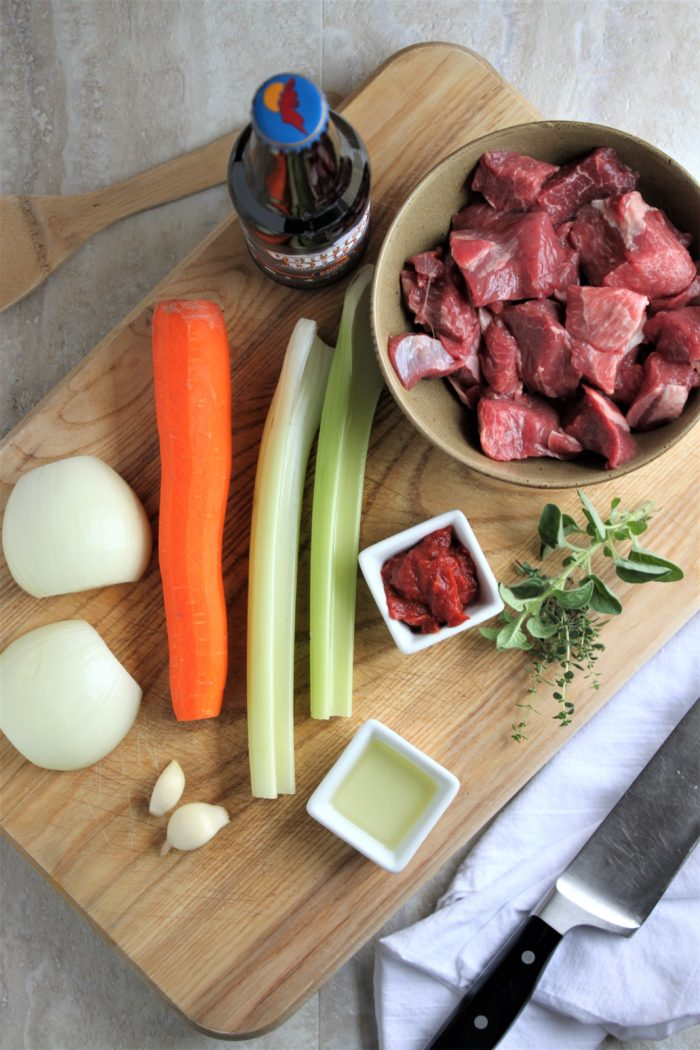 Beer Braised Lamb Gyros Ingredients