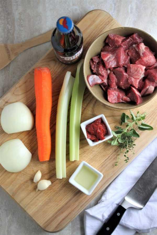 Beer Braised Lamb Gyros Ingredients