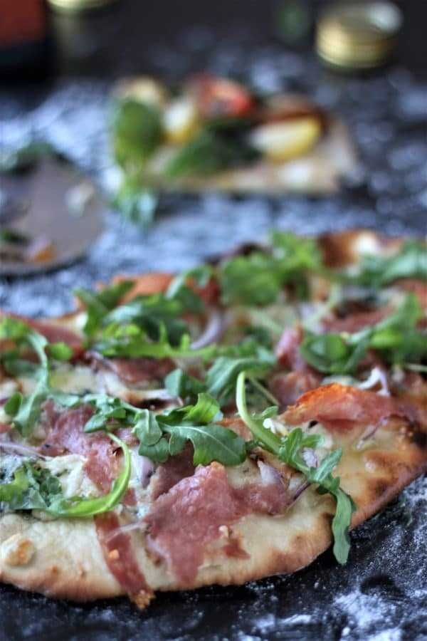 Beer Pizza Crust Salami and Blue Cheese