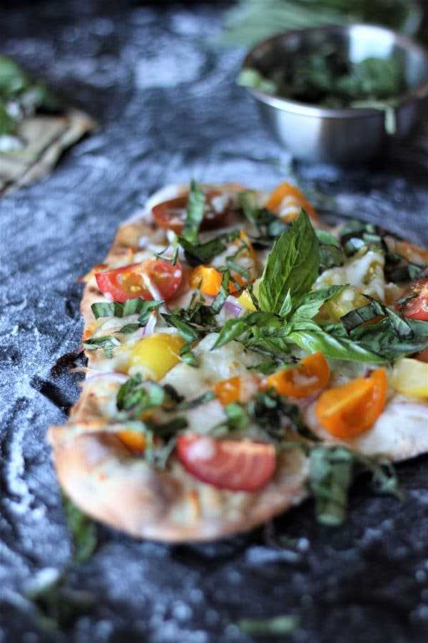 Beer Pizza Crust with Tomatoes