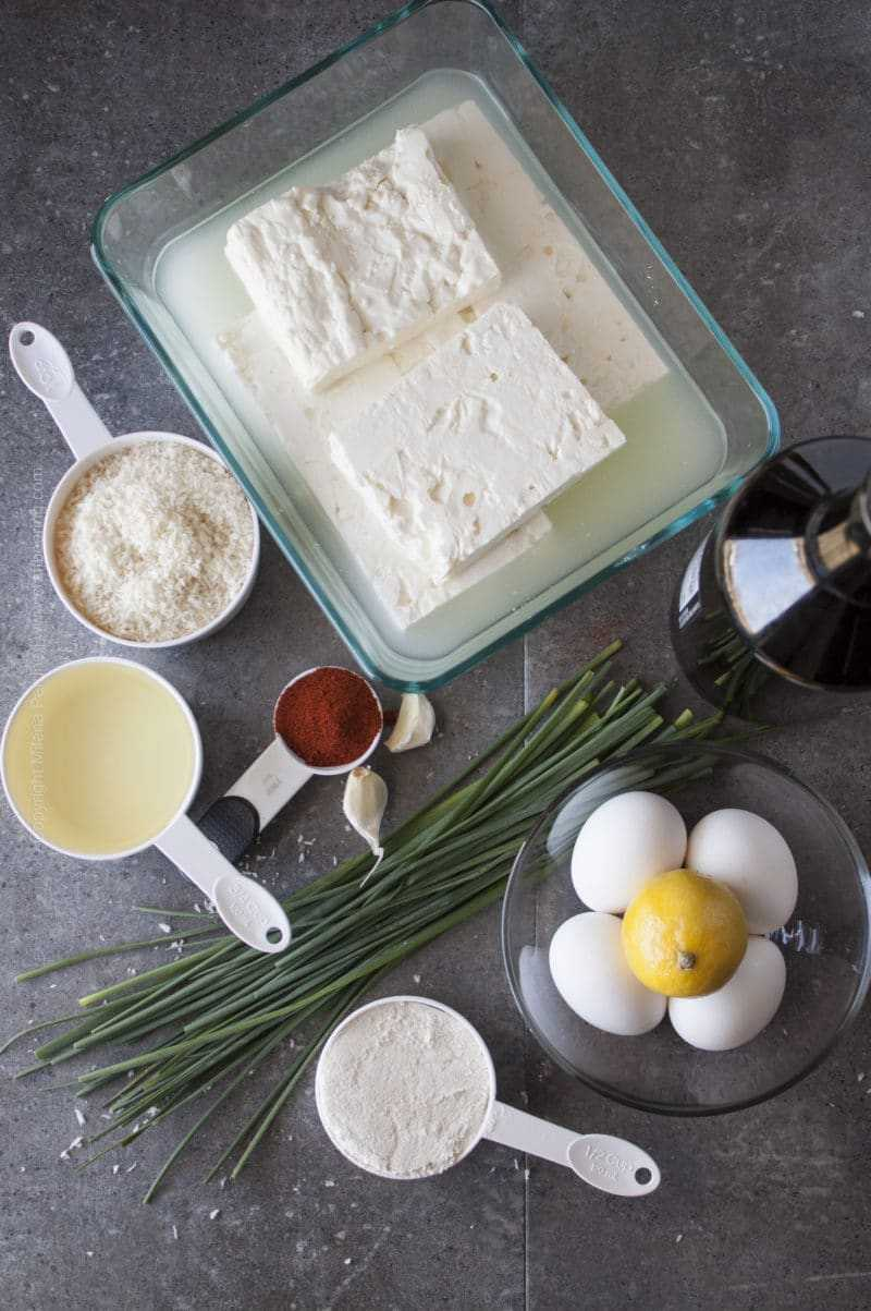 Ingredients for Feta Cheese Bites