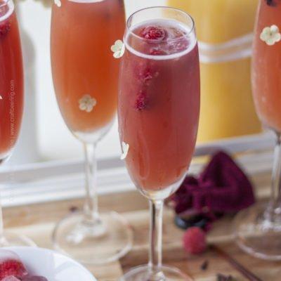 Blood Orange Gose & Raspberry Saison Beermosas