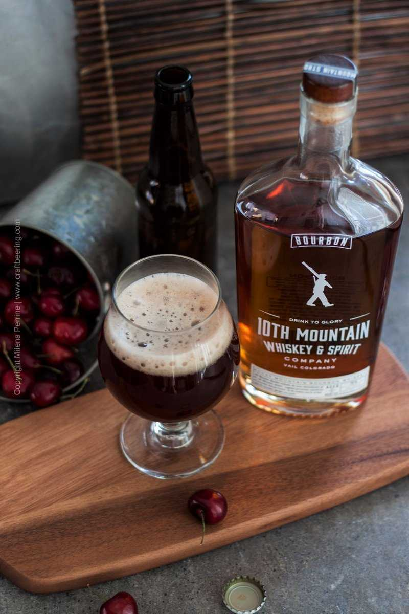 Cherry Bourbon Ale & 10th Mountain Bourbon