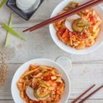Kimchi Salad Bowls Recipe. Adding beautiful and healthy flavors to tradiotional Korean kimchi