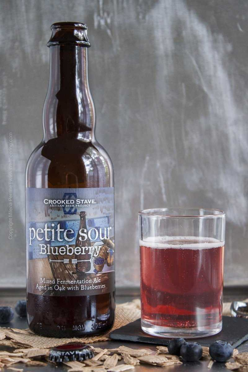 Crooked Stave Petite Sour Blueberry Mixed Fermentation Ale