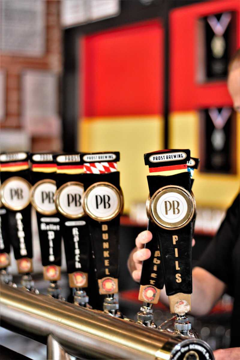 Prost Brewing - Ft. Collins tasting room handles.