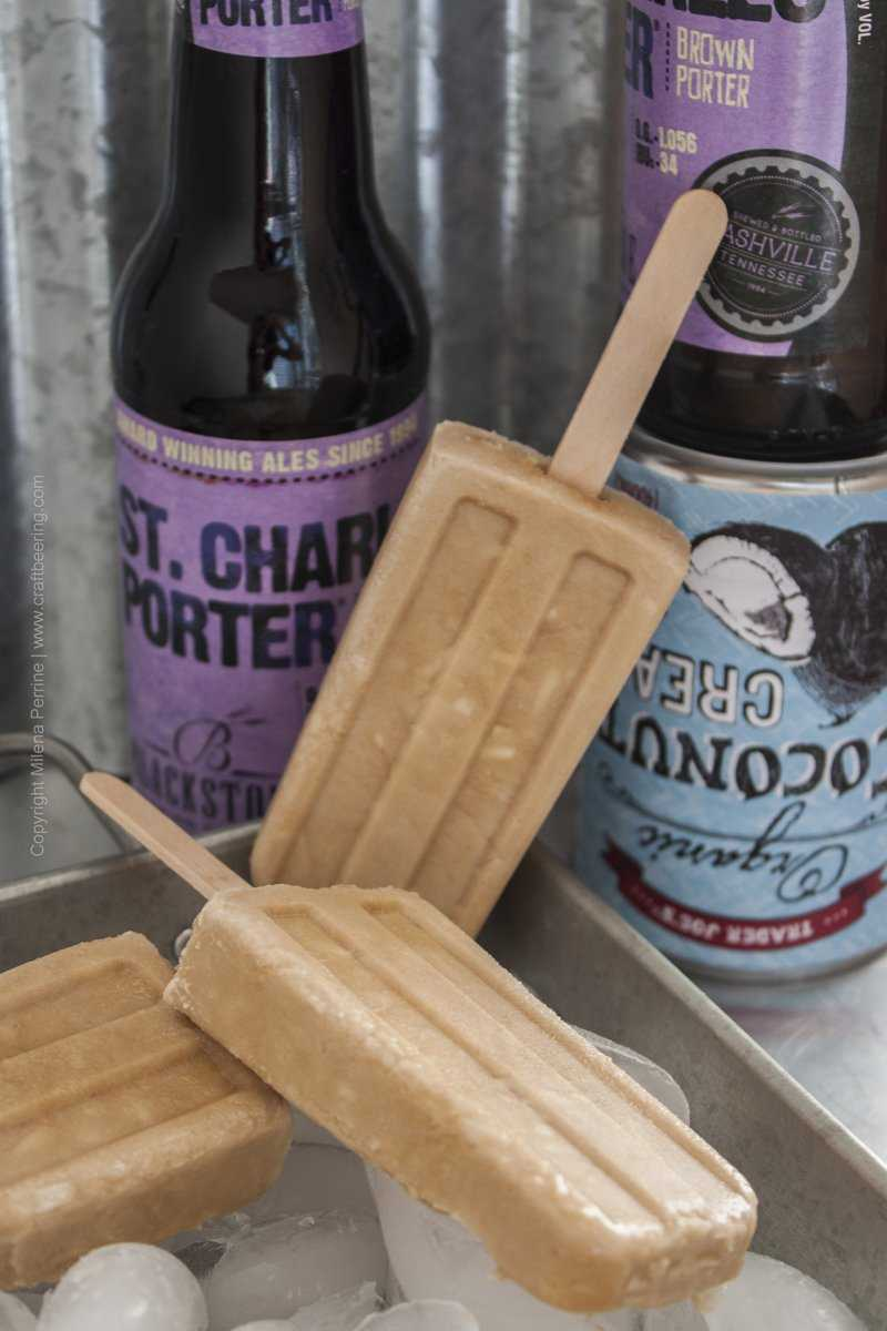Porter Coconut Beersicles with St.Charles Brown Porter