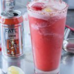Strawberry Sorbet Gose Margarita with Pink Salt. Summer Craft beer cocktail dream.