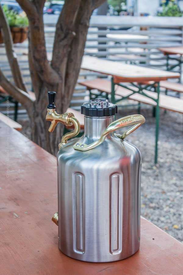 uKeg pressurized growler just filled