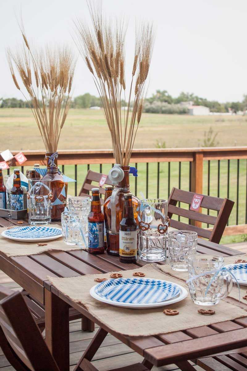 Oktoberfest Party Tablescape! Let's open the Marzen! #oktoberfestparty #oktoberfestbash