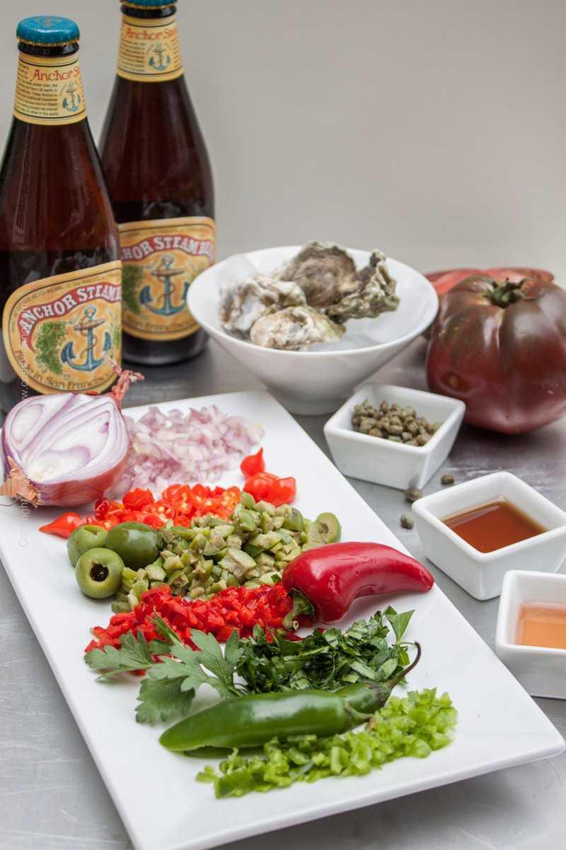 Bloody Roman Beer cocktail ingredients