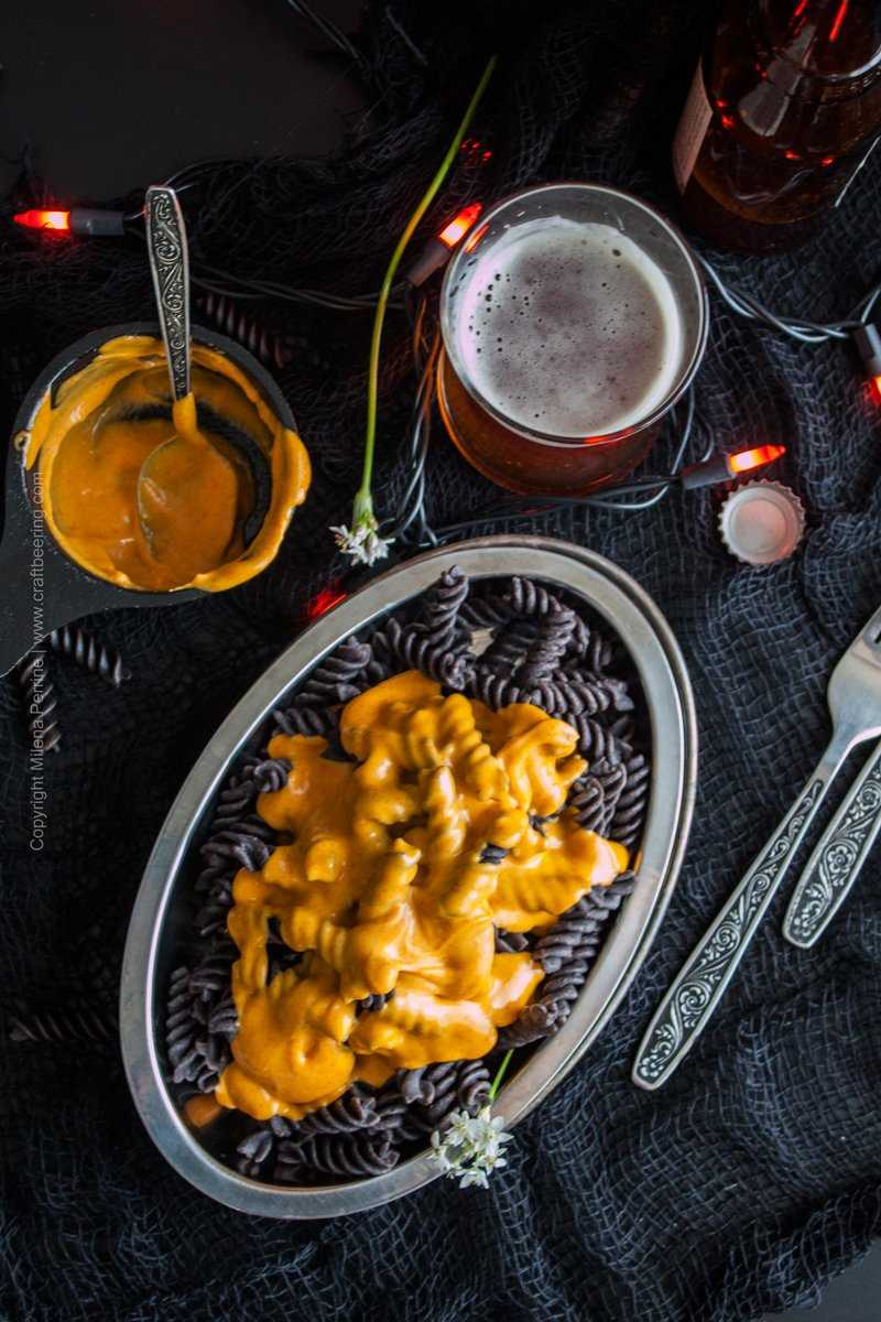 Halloween Pumpkin Ale Mac and Cheese