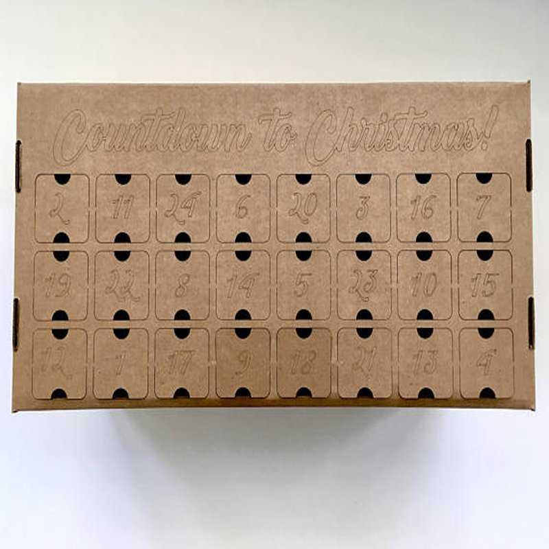 DIY craft beer advent calendar - pre-made box option, reusable year after year of fun