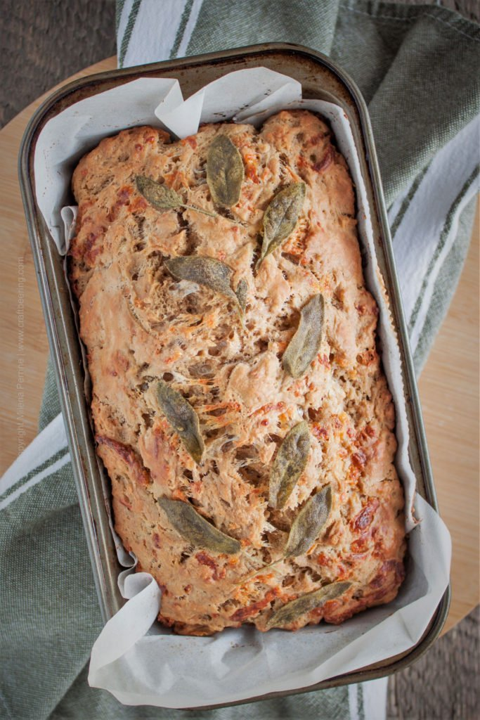 Cheesy Porter Beer Bread