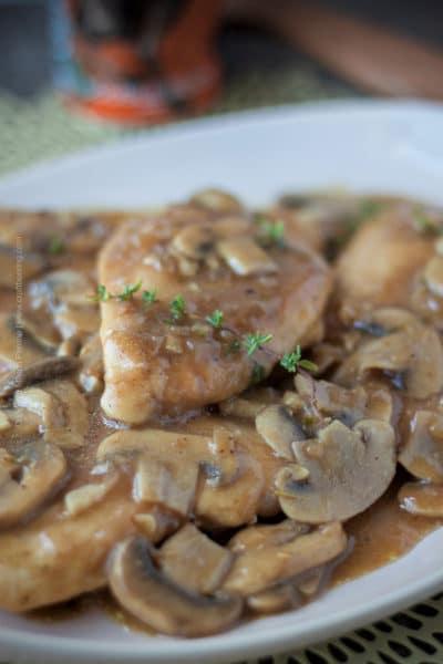 Chicken Beersala (with Doppelbock and Mushrooms)