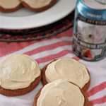 Molasses Stout Cookies with Stout Infused Cream Cheese Frosting