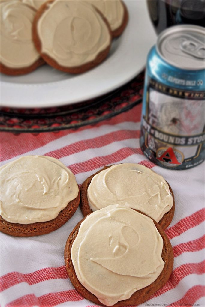 Molasses & Stout Cookies with Stout Infused Cream Cheese Frosting