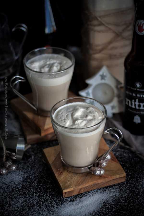Beer Nog stout and Irish cream eggnog