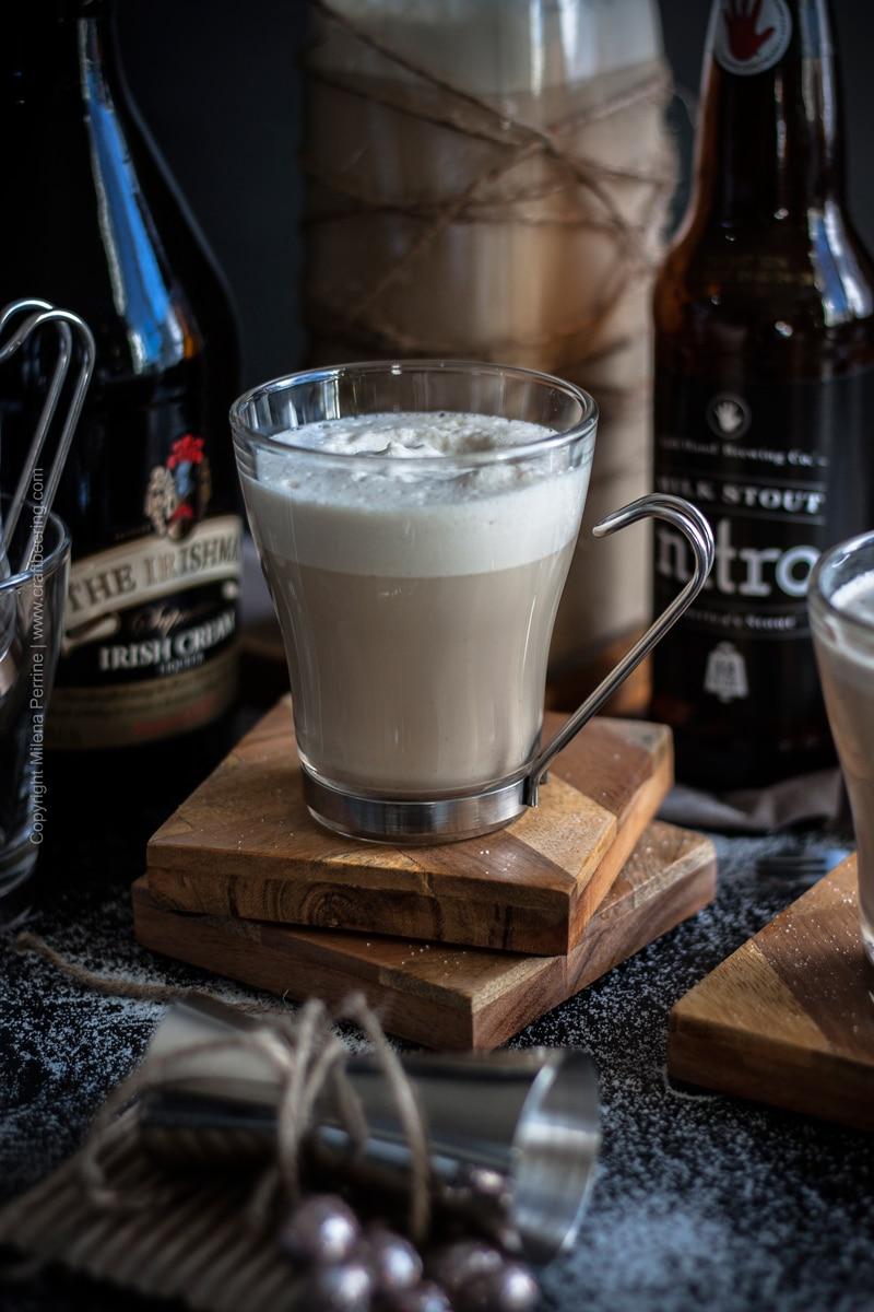 Beer nog with stout and Irish cream #beernog #eggnog