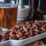 Roasted almonds & dried cranberries coated in extra virgin olive oil and flavored with hop salt. #roastedalmonds #hopsalted