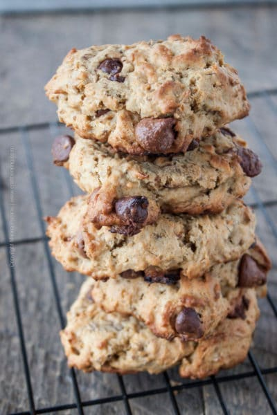 Kahlua Spent Grain Cookies with Chocolate Chips