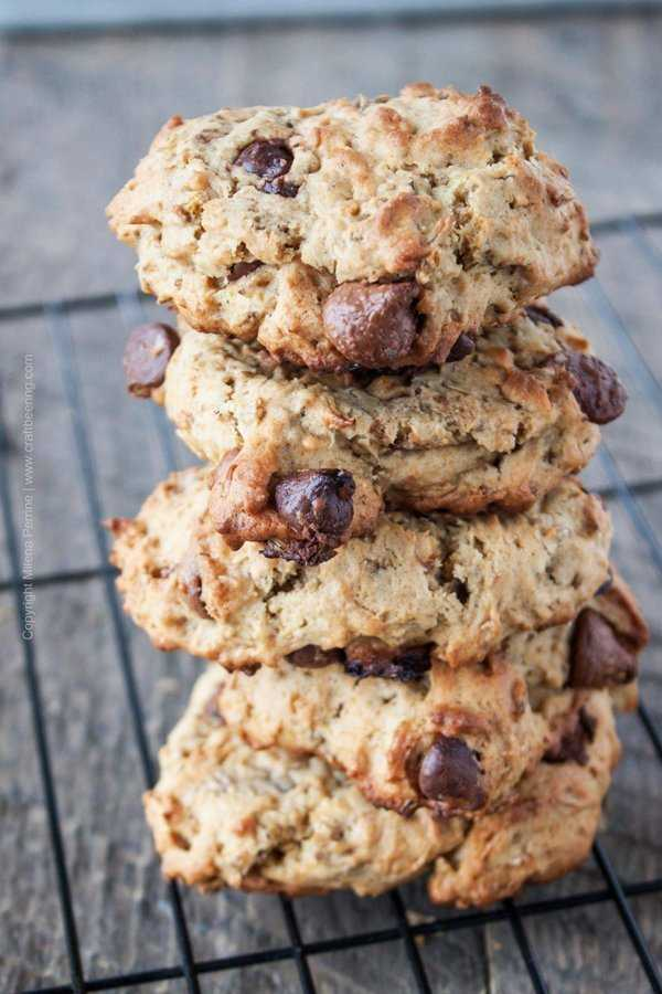 Kahlua spent grain cookies with chocolate chips #spentgraincookies #kahluacookies