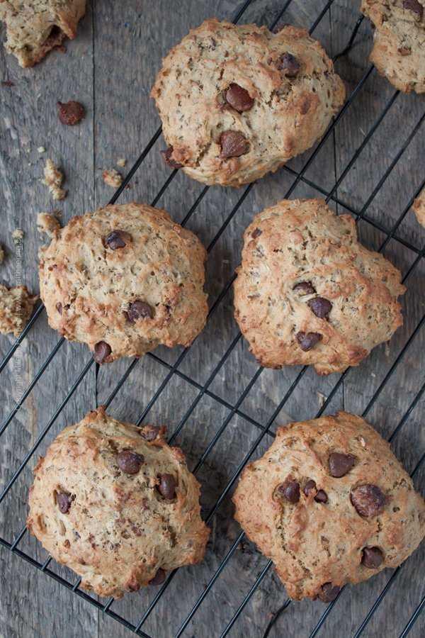 Kahlua spent grain cookies with choc chips #spentgraincookies #kahluacookies
