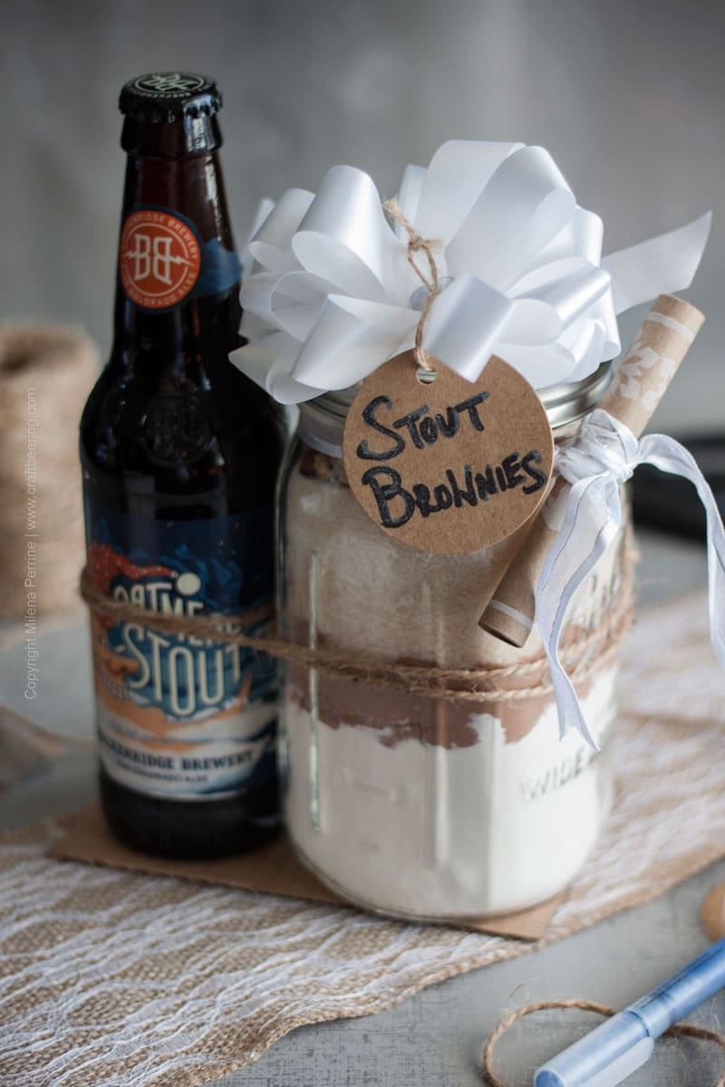 Stout brownie mix DIY gift idea