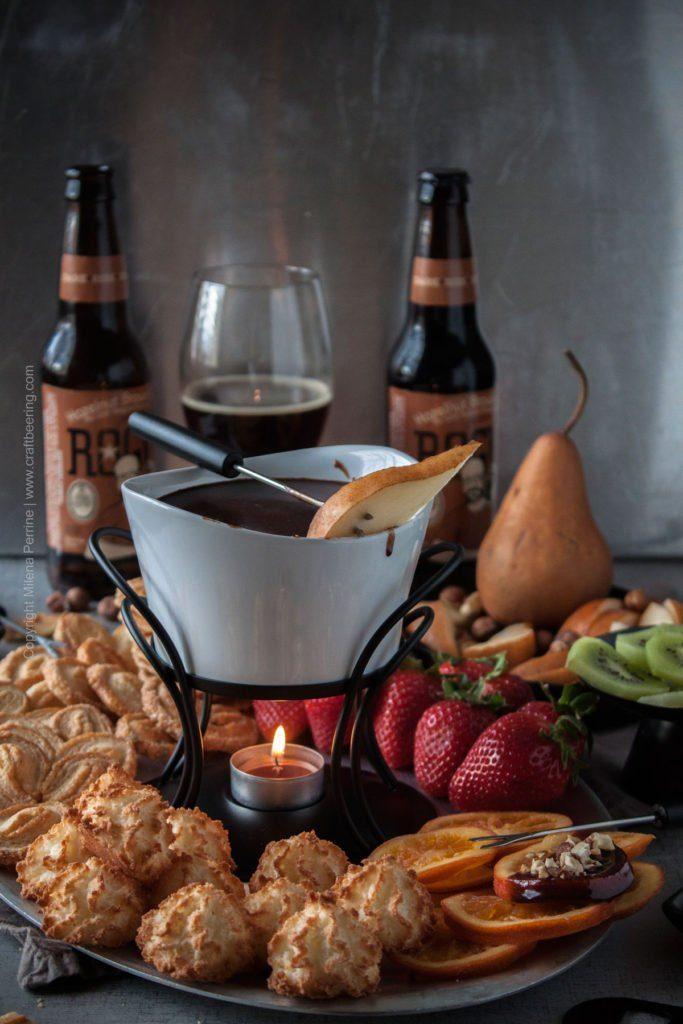 Hazelnut Brown Ale Chocolate Fondue