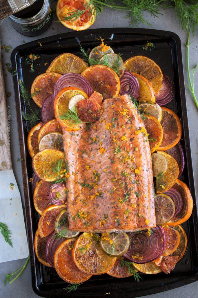 Beersamic Glazed Citrus Salmon