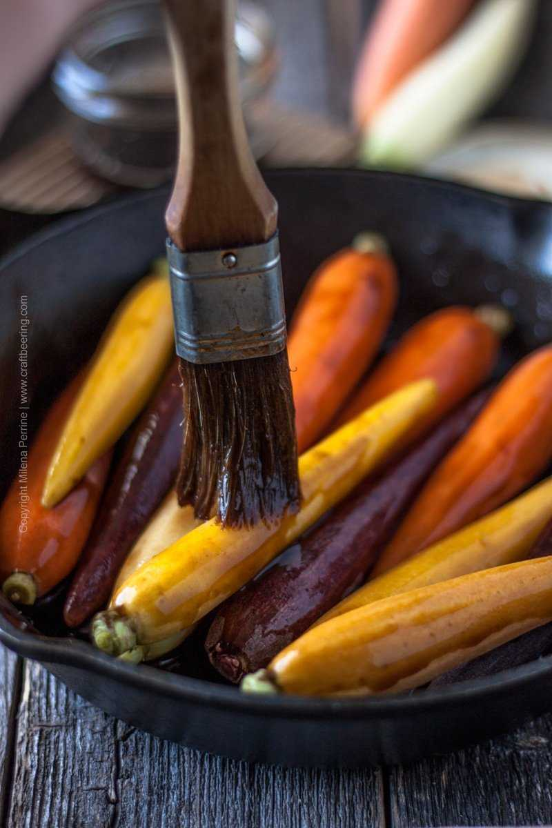 Brush beersamic over the carrots and roast in a 400F oven #beersamic