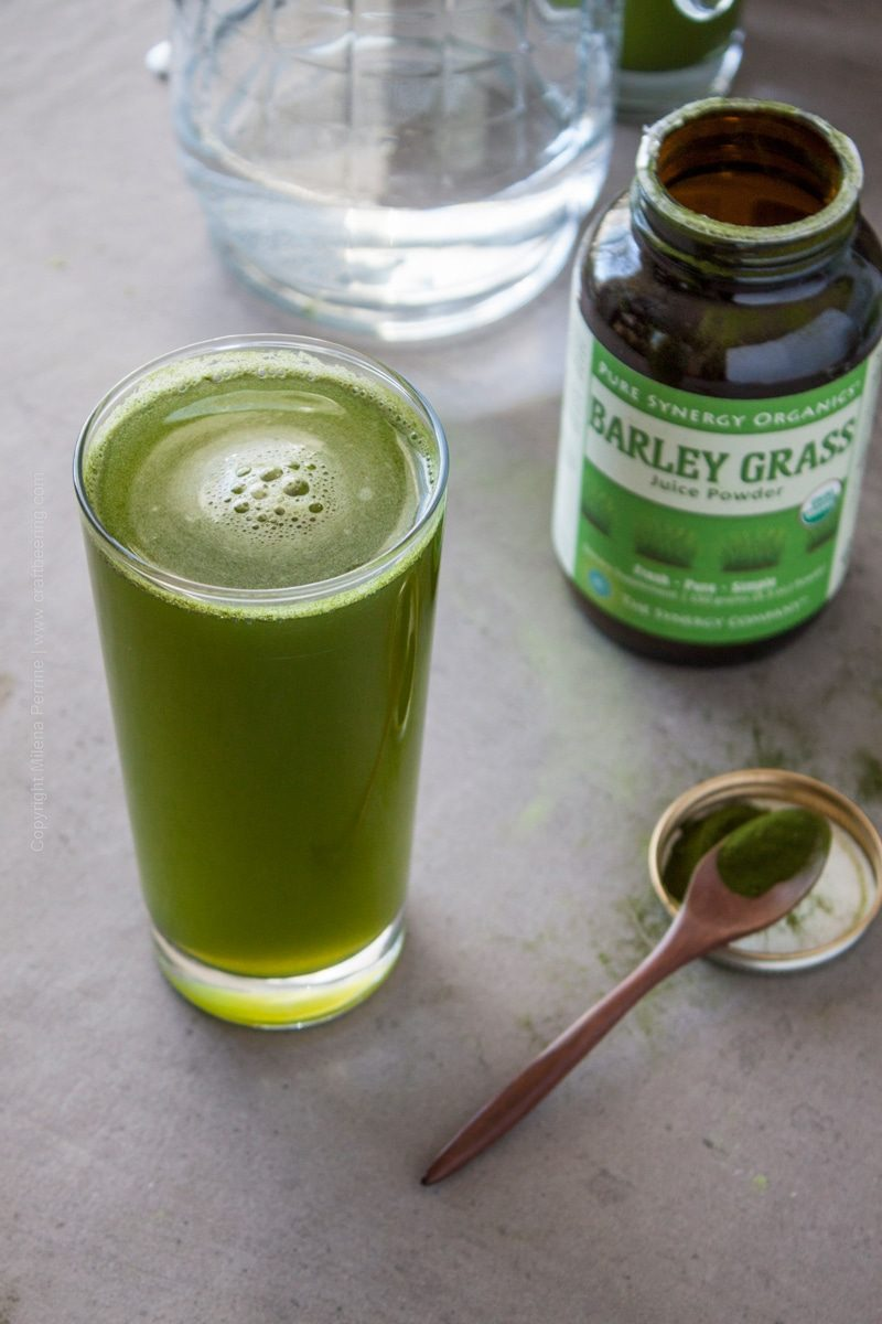 Barley grass juice powder glass. #barleygrass #barleygrassjuicepowder