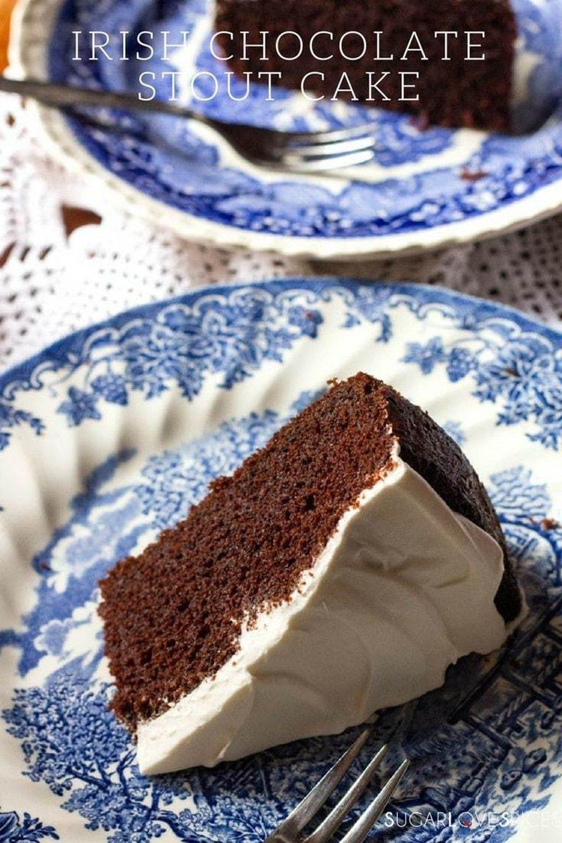 Irish stout chocolate cake.