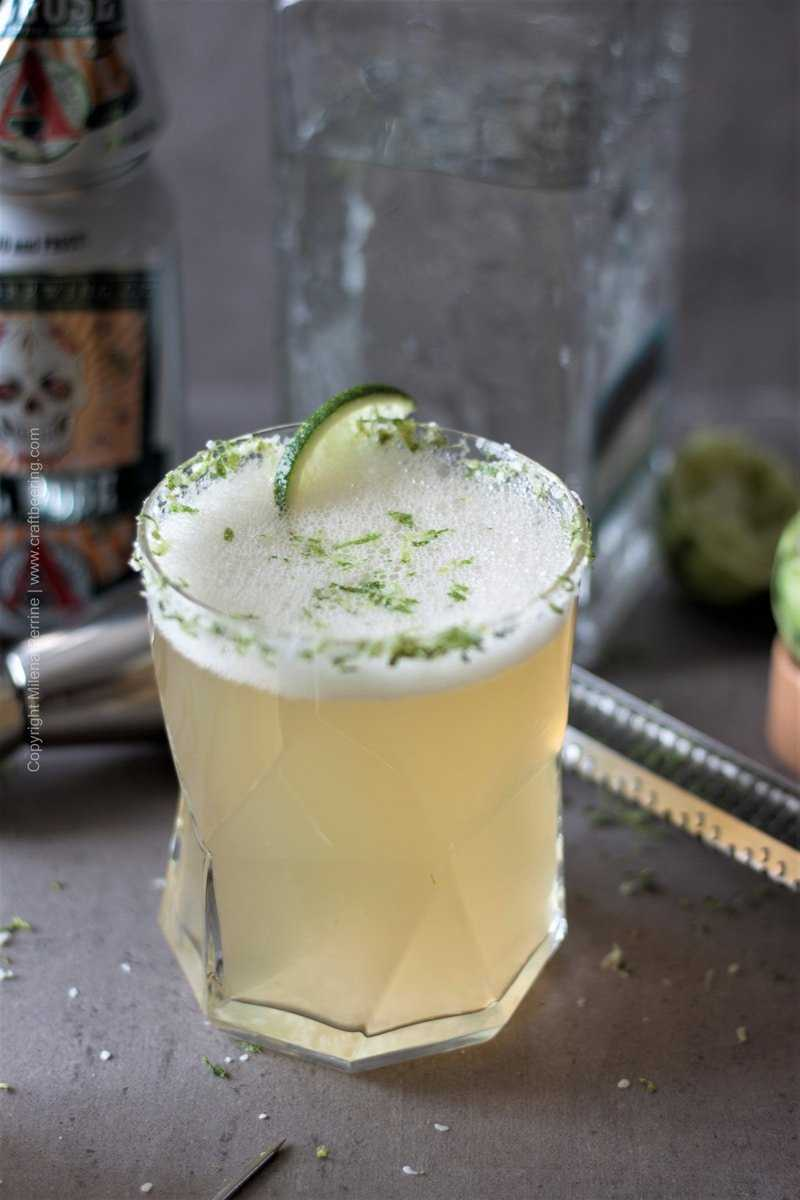 Gose margarita or if you'd rather beergarita is a sprightly beer cocktail with sour gose style ale and vodka. #beercocktail #beermargarita #beergarita #gosemargarita #gose