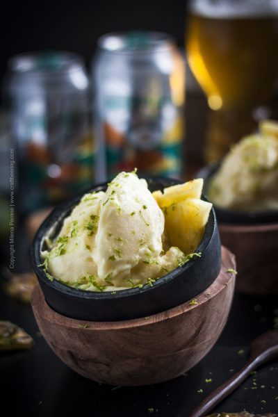 Pineapple IPA Sorbet & Pineapple Sherbet 2 in 1 recipe