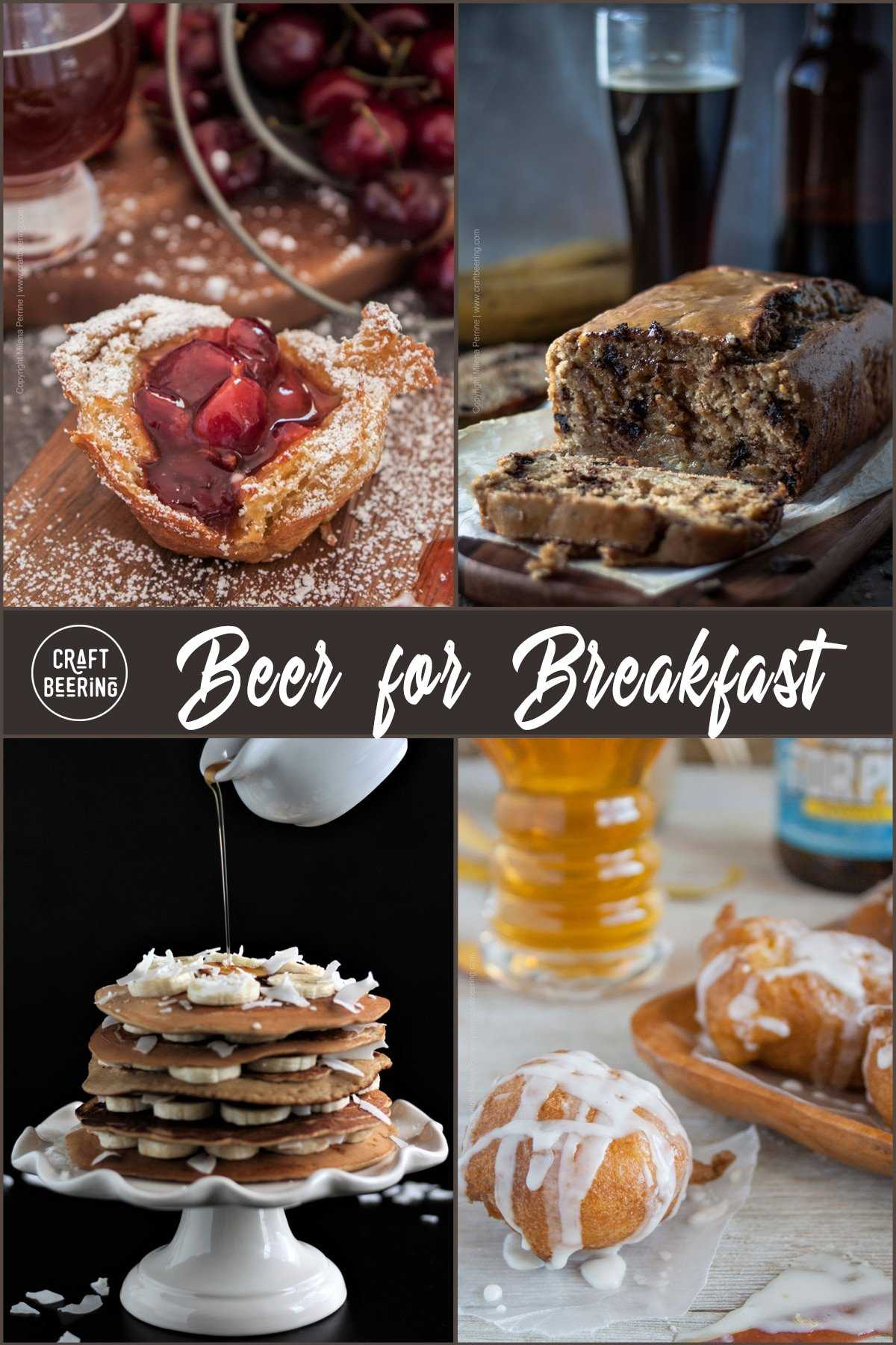 Beer for Breakfast | Collection of breakfast recipes featuring craft beer as ingredient. From IPA mango fritters to Dunkelweizen banana bread with choc chips. Delicious stuff!