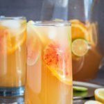 White sangria recipe with agave wheat ale and vibrant citrus