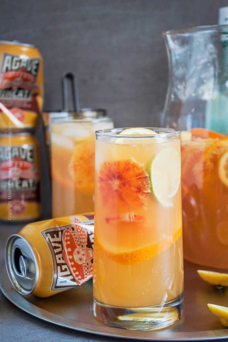 Agave Wheat white sangria with citrus.