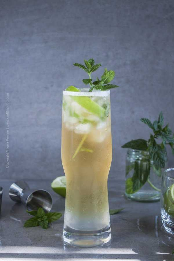 Beer mojito with Berliner Weisse style beer.