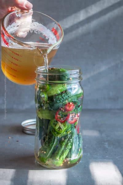 Beer Pickles | Spicy Juicy Hazy IPA Pickles
