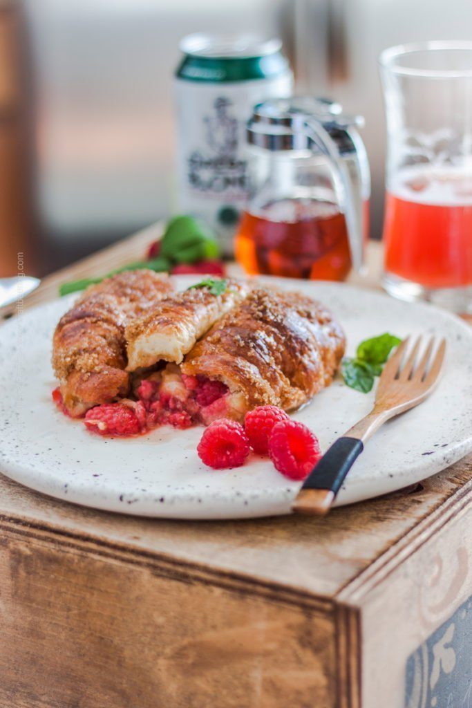 Raspberry Blonde Croissant French Toast