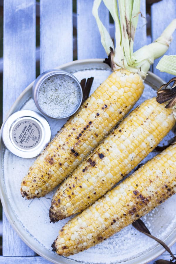 Pacific Jade Hops Salted Grilled Corn