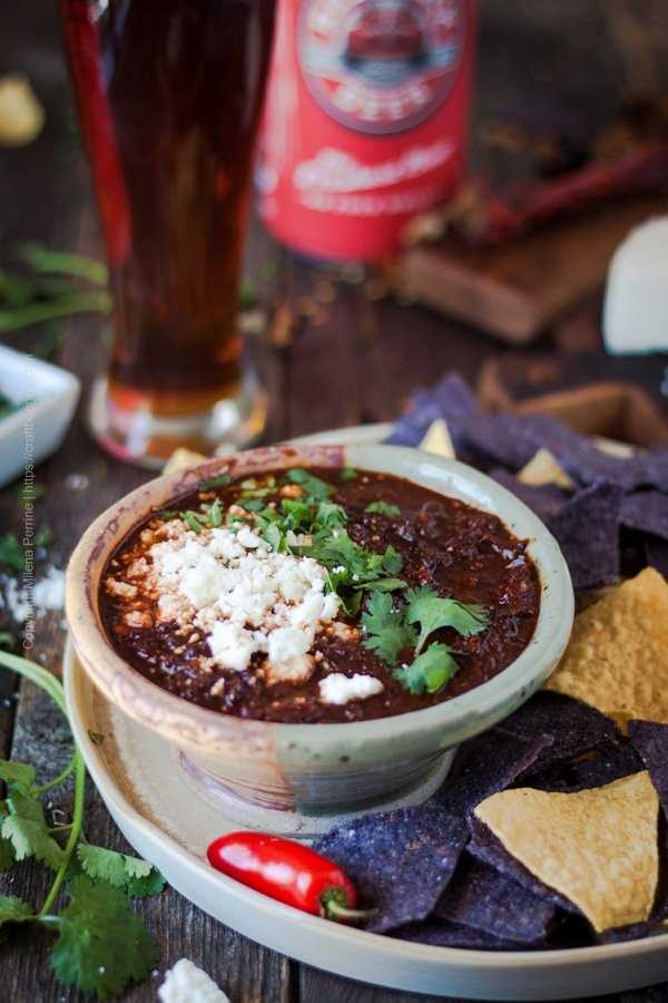 Salsa Borracha with Tortilla Chips and Baja Mexican Lager