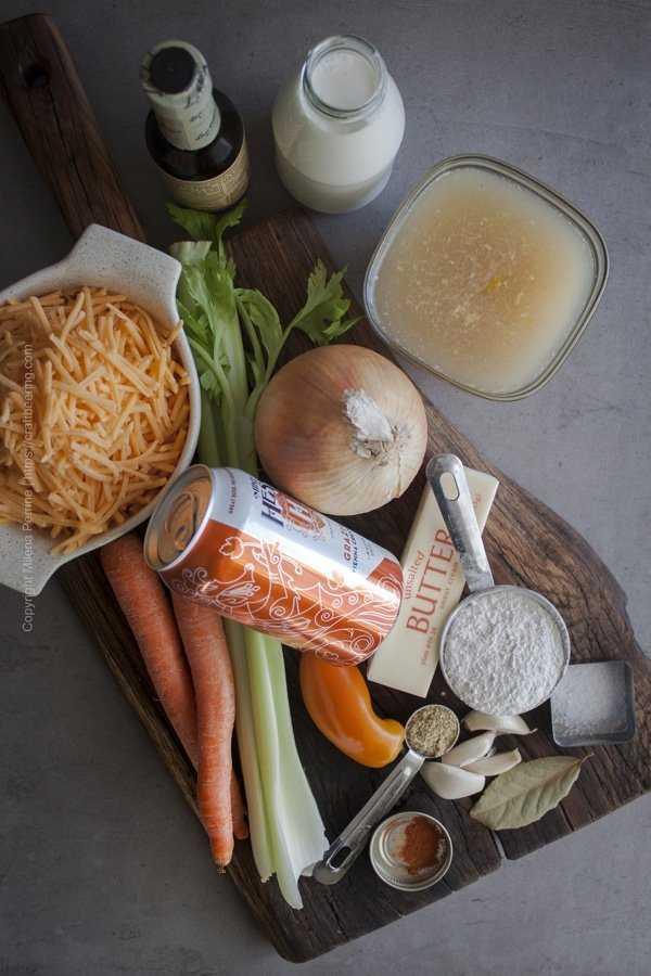 Beer Cheese Soup Ingredients