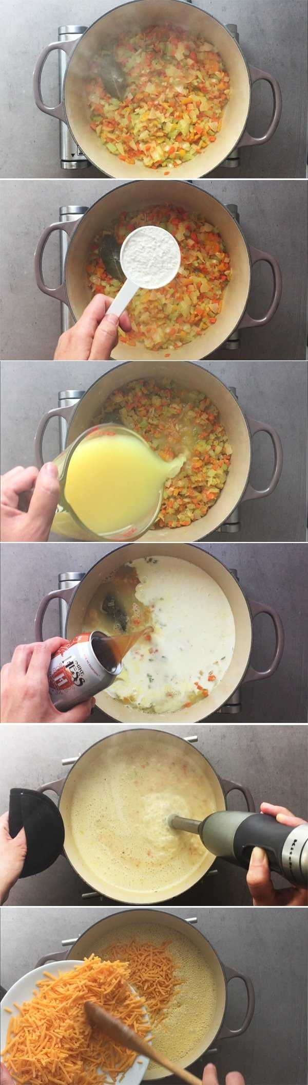 How to Make Beer Cheese Soup - Step by Step Process